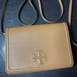 Tory Burch Light Brown Cross Body Bag